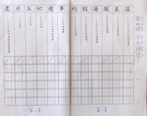 第四課生字練習紙第一、二頁