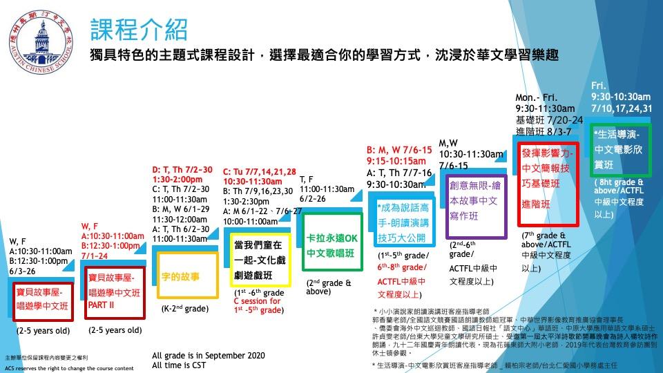 ACS暑假Fun學趣中文營_官網版_課程總表_06072020