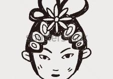 stock-vector-chinese-beijing-opera-doodle-305604827