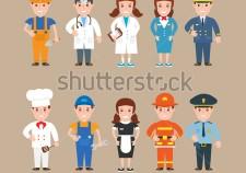 stock-vector-children-profession-worker-doctor-nurse-stewardess-pilot-cook-mechanic-waitress-fireman-policeman-332312486