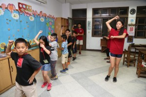 9. Line dance teaching