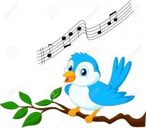 chant-d-oiseau-de-dessin-animé