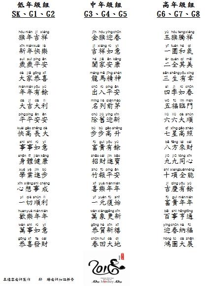 2016吉祥話_Pinyin